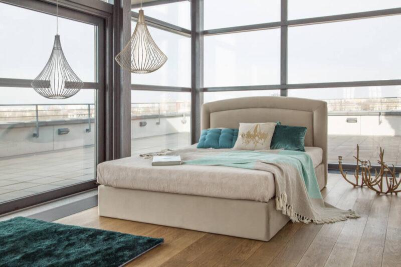 łóżka Tapicerowane Materace Merita